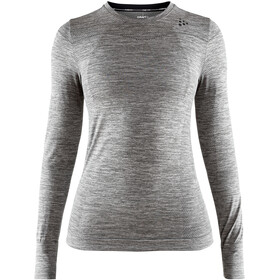 Craft Fuseknit Comfort Roundneck LS Top Women, dark grey melange